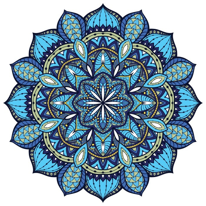 Vector, elegant mandala, with intricate detail.